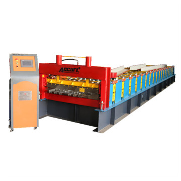 2018 roofing tile making trapazoidal roll forming machine