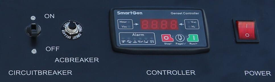 Control Panel of 5KW Dual Fuel Inverter Generator