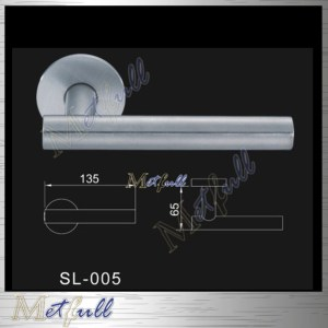 Euro Profile Stainless Steel Solid Door Handle