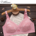Women soft cup bra lace wireless padded bra