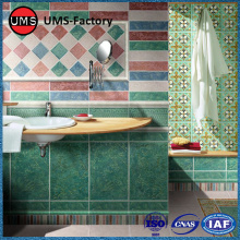 Ceramic wall tiles green for bathrooms sale