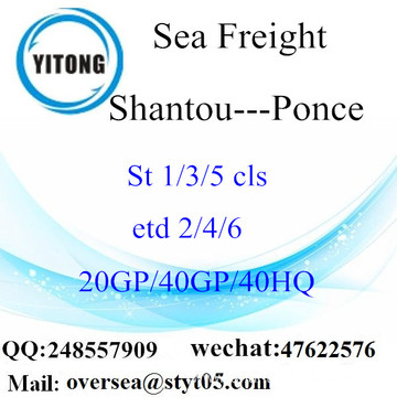 Shantou Port Sea Freight Shipping To Ponce