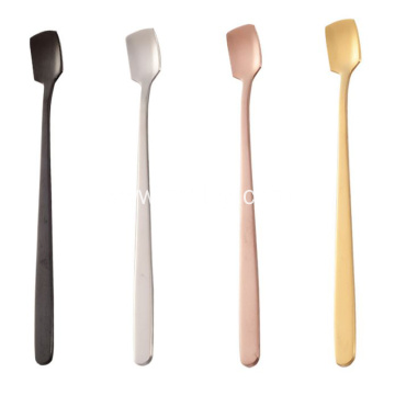304 Stainless Steel Creative Square Head Mixing Spoon