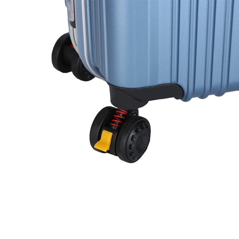 ABS PC aluminum frame blue trolley luggage 7