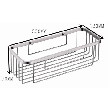 Wall mounted stainless steel Rectangular Basket