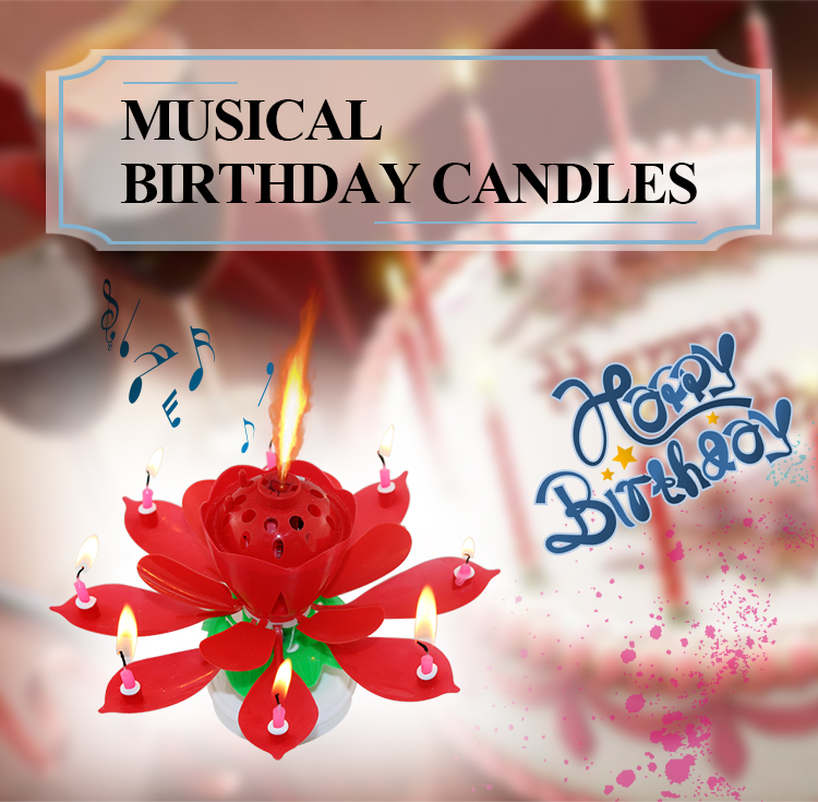 music birthday candle