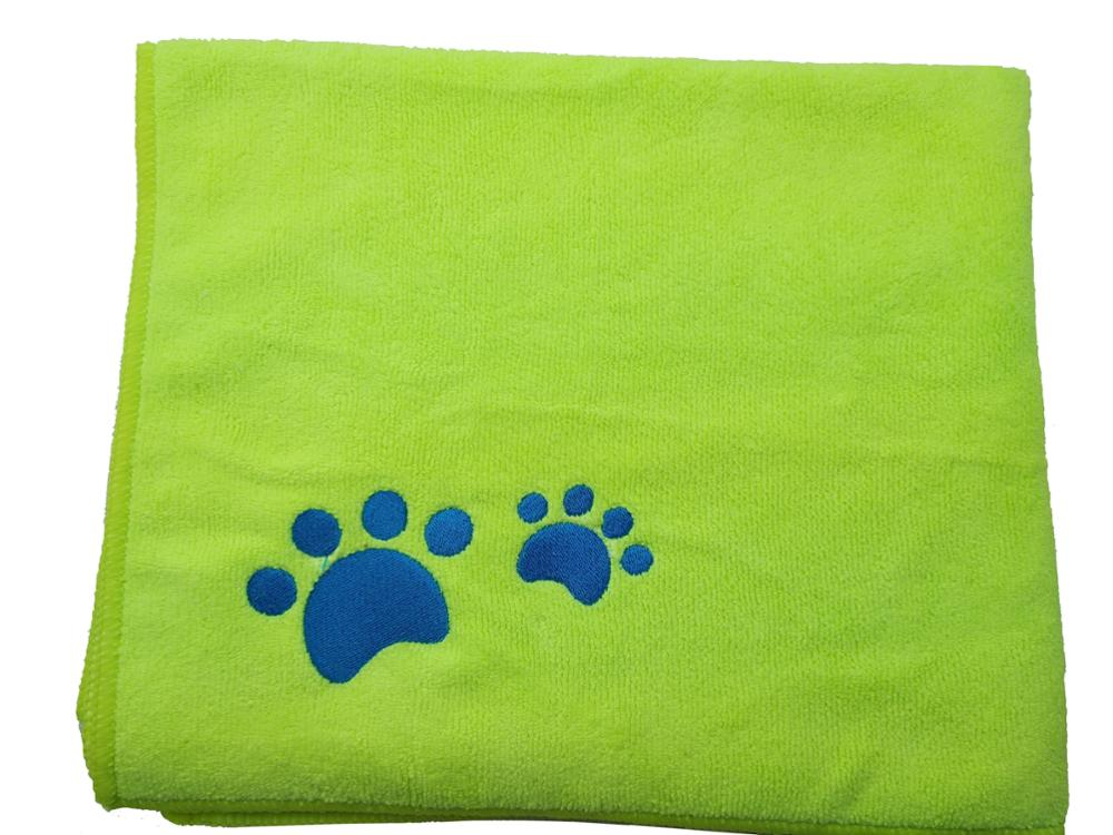 S Embroidery Bath Towel For Dog