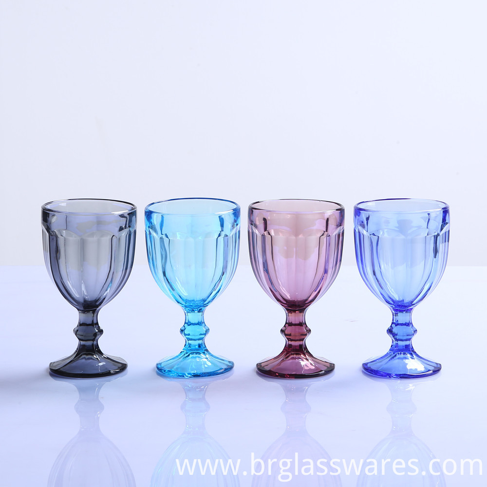 dark blue glass goblet 1