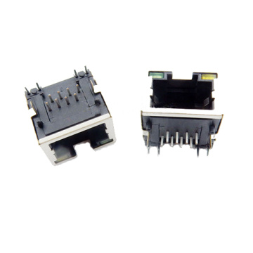 RJ45 Jack side entry 1X1P shielded with LED