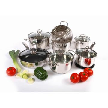 Popular Wire handle 15pcs cookware WALMART