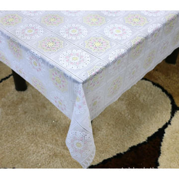 camping Printed pvc lace tablecloth by roll