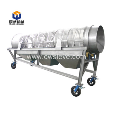 High capacity carbon steel manure drum sieve