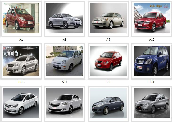 Chery parts catalogues