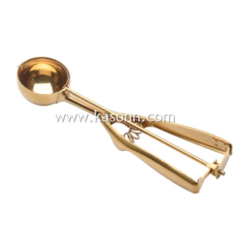 Medium Copper Ice Cream Scoop with Rose Gold