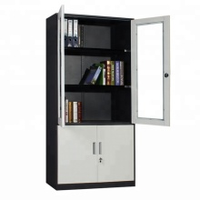 UP 2 glass Door Steel Office Cupboard