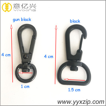 custom shinny gun black plating D ring hook