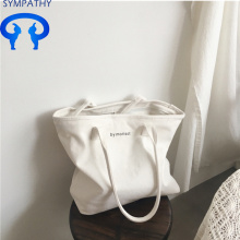 Large capacity letter single shoulder simple tote bag