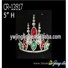 Custom Colored Rhinestone Crystal Tiara