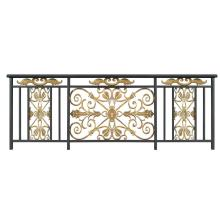 Golden Flower Aluminum Balcony Fence