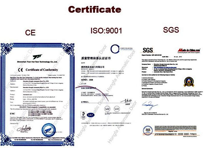 CE and SGS and ISO