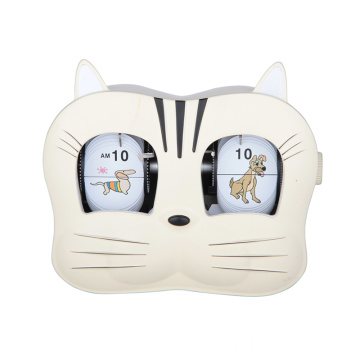 Cute kids clock oblong flip table clock