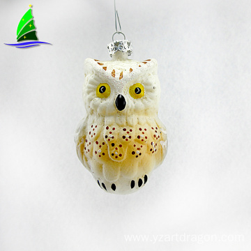 Christmas glass animal figurines owl  ornaments