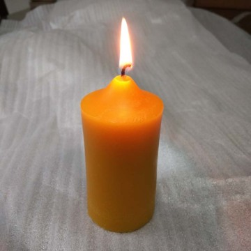4inch high 100% pure beeswax pillar votive candle