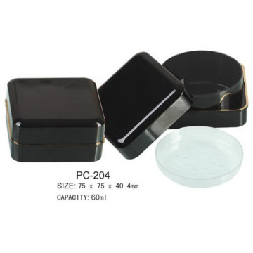 Plastic Square Empty Loose Powder Case
