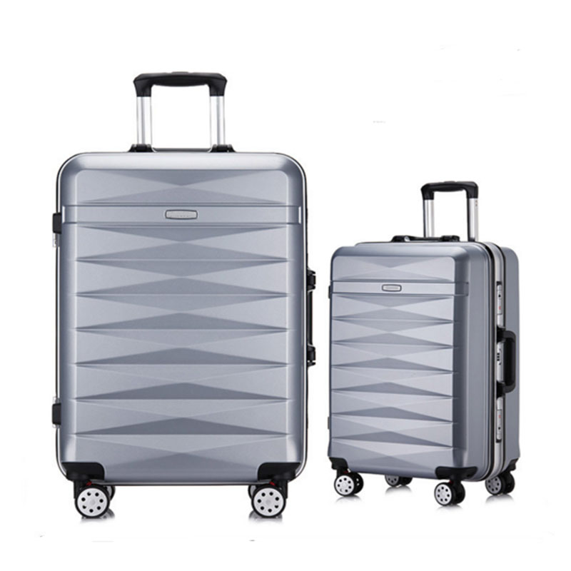 Silvery luggage