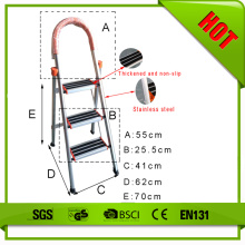 Non slip household 3 steps ladder