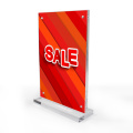 Acrylic magnetic photo sign holder display stand