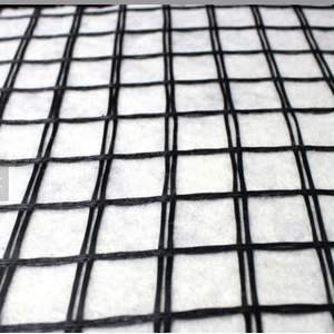 Geogrid Fiberglass Geogrid Bonded To Nonwoven Fabric