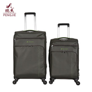 Waterproof black businessman fabric trolley luggage