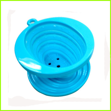 Customized for Single Cup Coffee Filter BPA free heat resistant silicone tea strain collapsible supply to Ecuador Exporter