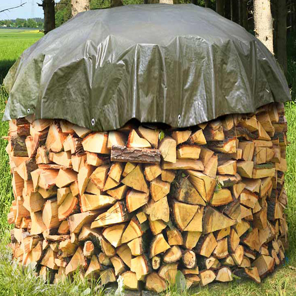 Round Tarpaulin lumber cover wood cover
