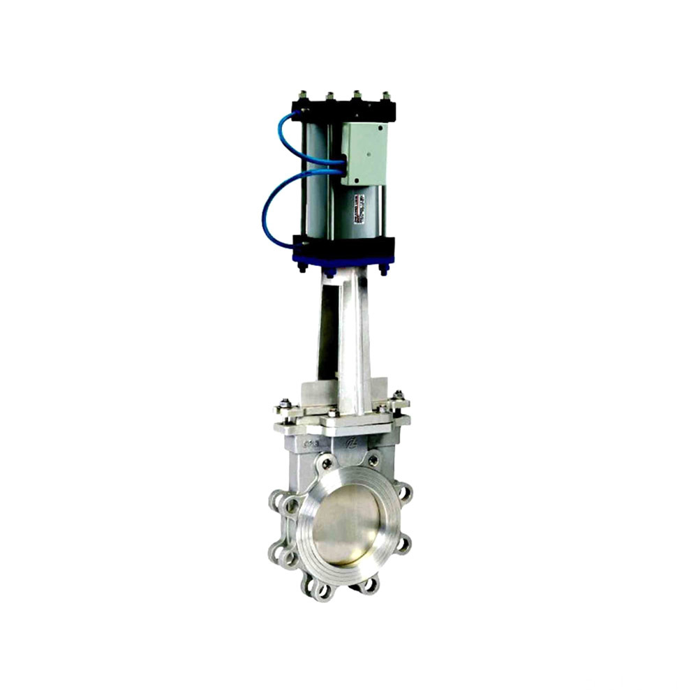flanged cf8 pneumatic regulating knife gate valves 4''