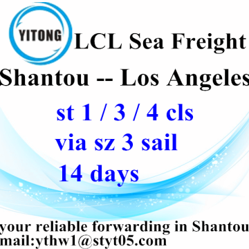 Shantou Shipping Forwarder sea freight to Los Angeles