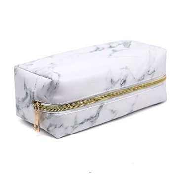 Custom Marbling Style PU Travel Makeup Pouch