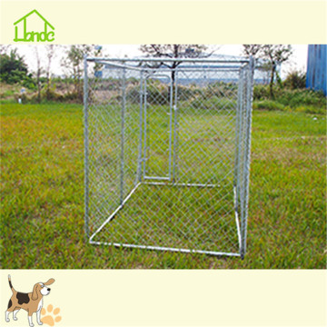 Customized chain link dog kennel with waterproof cover