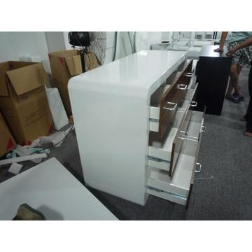 Contemporary white high gloss sideboard