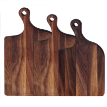 Irregularity walnut wood cutting board with handle