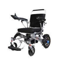 Elderly portable folding wheelchair