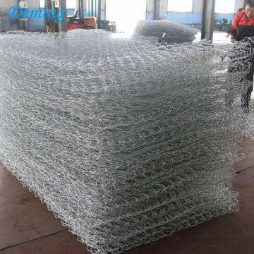SGS Factory 80*100mm Woven Hexagonal Heavy Duty Galvanized Glass Rock for Gabion