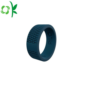 Engraved Silicone Ring Slap-up Black Round Sport Ring