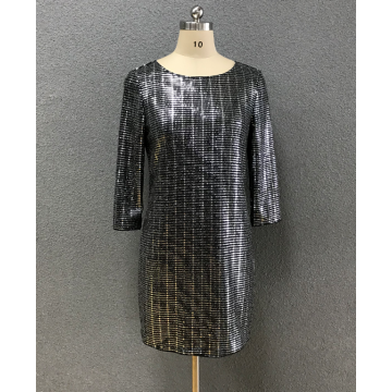 women's round neck dress