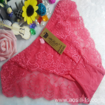OEM wholesale China cheap watermelon red sexy girl slimming lace cotton fancy underwear 515