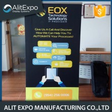 Outdoor custom aluminum roll up fabric banner stand