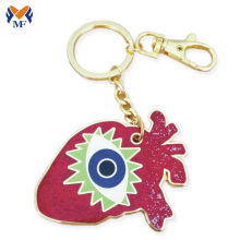 Double sided brand name cute animal keychain
