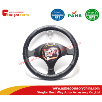 20 Years Factory for China Manufacturer of Wood Grain Steering Wheel Covers,Steering Wheel Cover Repair,Premium Steering Wheel Covers,Classic Car Steering Wheel Covers Embossed Steering Wheel Cover Black export to Congo, The Democratic Republic Of The Man