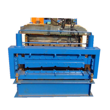 Ibr glazed 840-900 double sheets roll forming machine